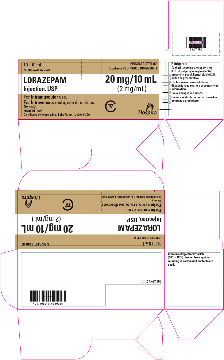 PRINCIPAL DISPLAY PANEL - 2 mg/mL Vial Carton - 6780