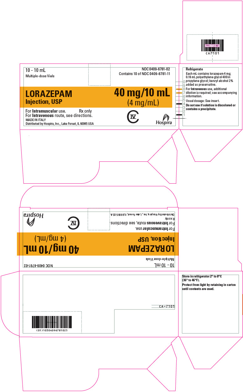 PRINCIPAL DISPLAY PANEL - 4 mg/mL Vial Carton - 6781